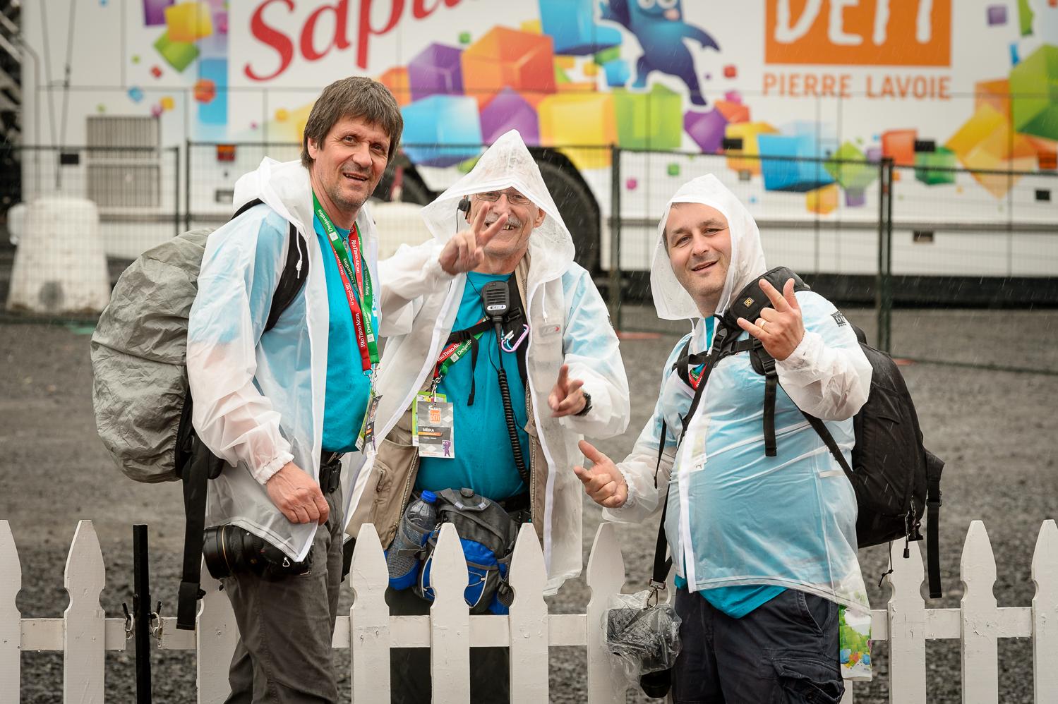 Ce n'est pas la pluie qui aura arrêté mes trois complices: Claudel Lemieux, Serge Pilon  et Guy Desrosiers.