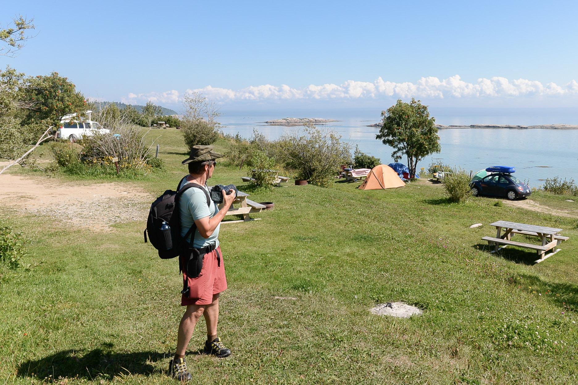 Vue vers l'est à partir du plateau le plus bas de notre camping
