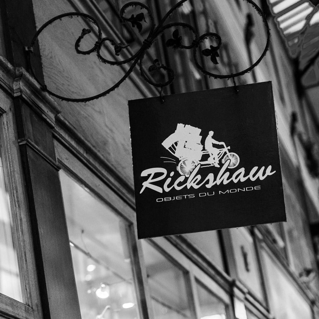 Enseigne de la boutique Rickshaw