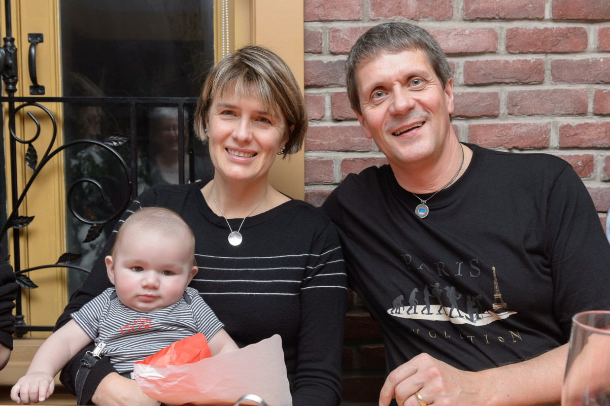 Je suis une femme comblée, ici entourée de Claudel mon amoureux et de Jules mon petit fils!