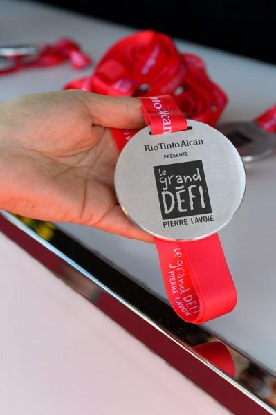 La voici la médaille bien mérité que chaque cycliste participant a reçu après son exploit.